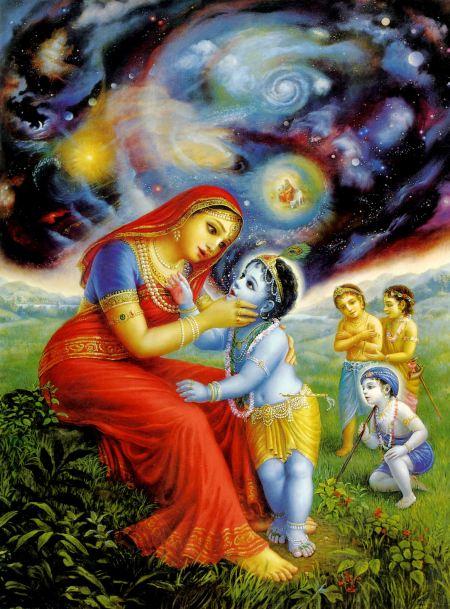 Mother Yasoda and Baby Krishna